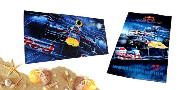 Veľké licenčné osušky Red Bull alebo Ferrari