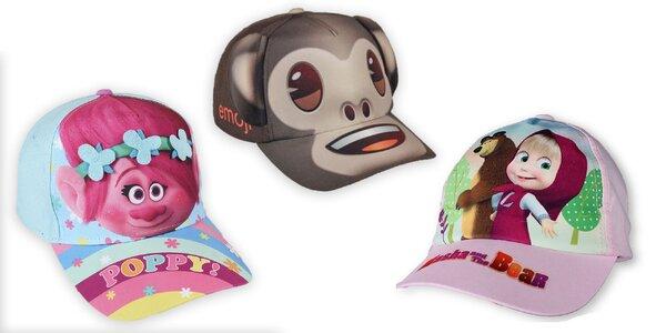Veselé letné čiapky s detským motívom