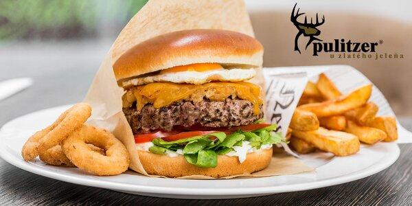 Special burger s belgickými hranolčekmi