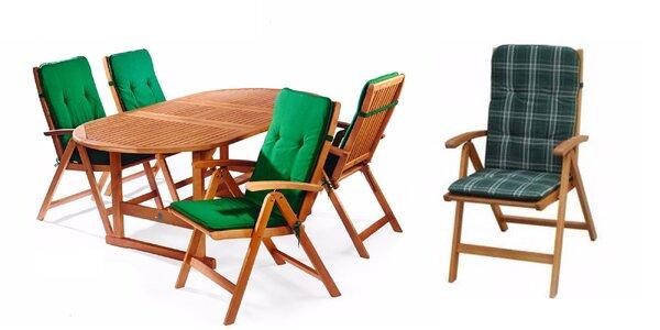 Polohovateľná eukalyptová stolička s polstrovaním