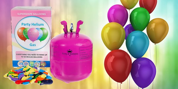 Hélium vrátane 30 alebo 50 balónikov na párty
