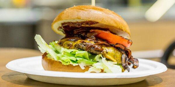 Študentský pravý slovenský hovädzí burger