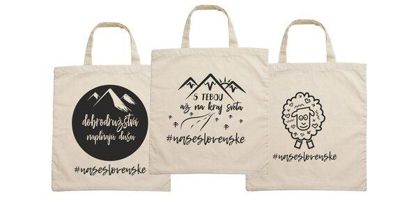 Bavlnené i jutové tašky nielen pre Slovákov