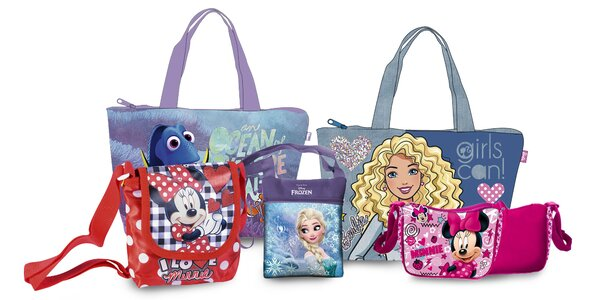 Detské tašky a kabelky s obľúbenými postavičkami