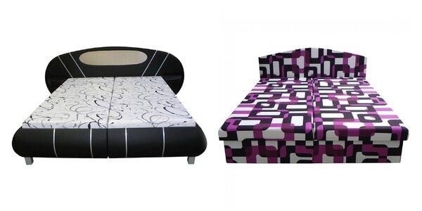 Čalúnená posteľ v modernom dizajne