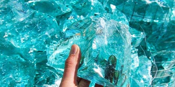 Dekoračné sklenené úlomky Tahiti Tyrkys