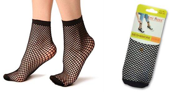 5 párov dámskych sieťovaných ponožiek
