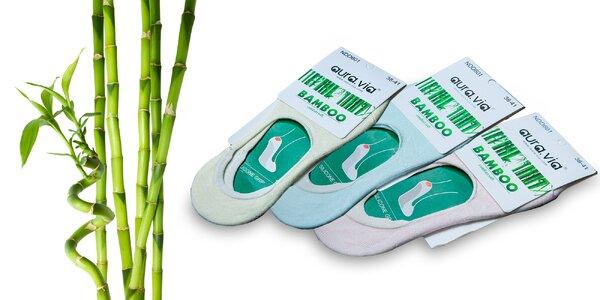 """5 párov čiernych alebo farebných bambusových ponožiek """"ťapiek"""""""
