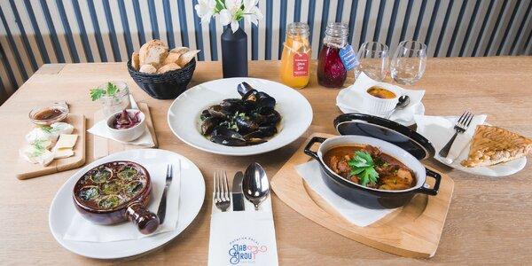 Francúzske kulinárske umenie v menu pre 2 osoby