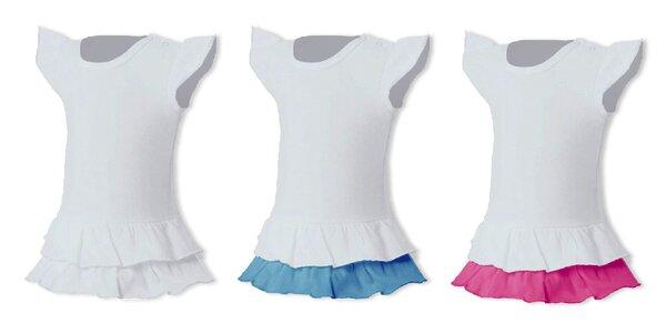 Tričkové dievčenské šaty