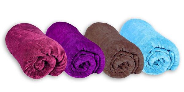 Farebné deky z mikrovlákna v rozmere 150 x 200 cm