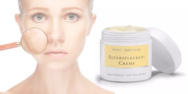 Krém na pigmentové a starecké škvrny s UV faktorom