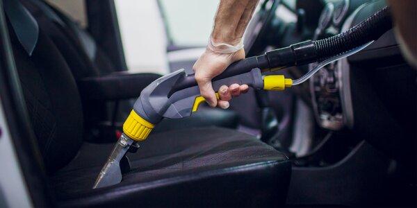 Dôkladné čistenie interiéru automobilov