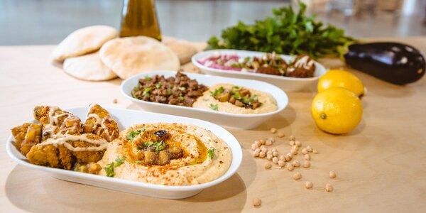 Hummus s falafelom alebo hovädzím či kuracím mäsom