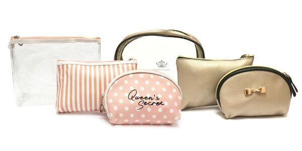 Sety 3 kozmetických taštičiek či kozmetický kufrík