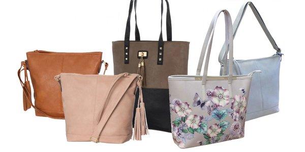 Dámske koženkové kabelky: mnoho štýlov a farieb