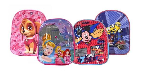 Detské licenčné batôžky s obľúbenými postavičkami