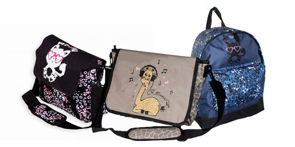 Tašky cez rameno aj batohy pre veľkých i malých