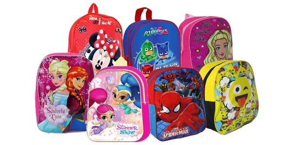 Detské malé batôžky s animovanými hrdinami