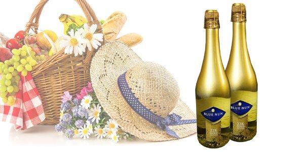 Slávnostné šumivé víno s 22-karátovým zlatom