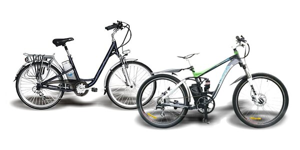 Elektrický skladací, mestský alebo celoodpružený horský bicykel
