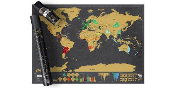 Cestovateľská stieracia mapa Deluxe