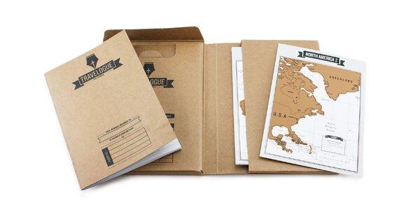 Cestovateľský denník so stieracími mapami