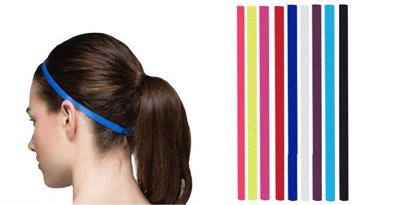 Športová protišmyková čelenka v rôznych farbách