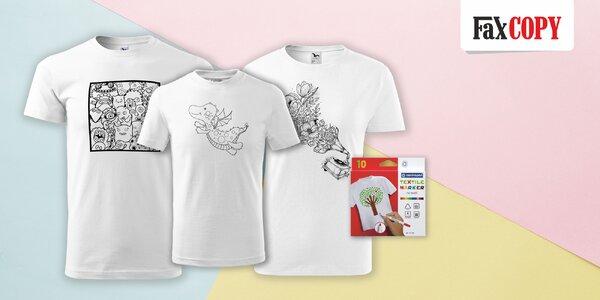 Pánske, dámske či detské tričko s omaľovánkou od FaxCOPY