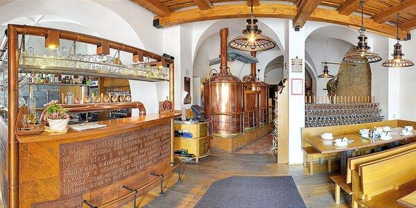 Tekutý a sladký pobyt v rodinnom pivovare a čokoládovni Černý orel v Kroměříži