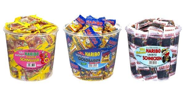 Box plný obľúbených bonbónov Haribo