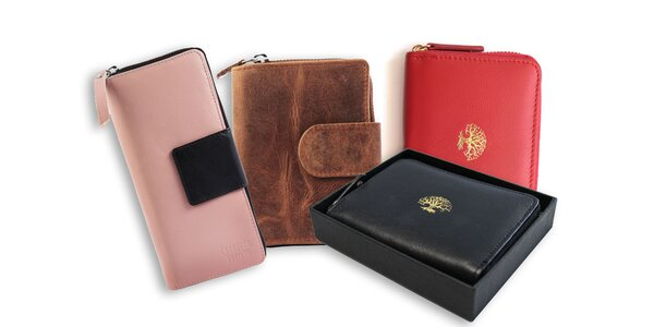 Dámska peňaženka s ochranou platobných údajov