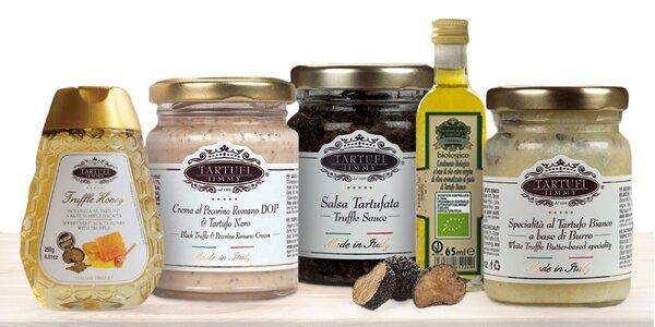 Hľuzovkové špeciality: pasta, olej, med, soľ aj celá hľuzovka