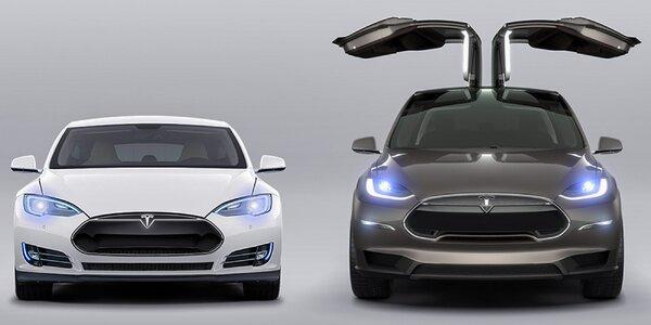 Jazda na automobile Tesla S P90D a X P90D