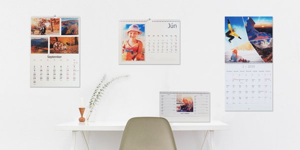 Rôzne druhy fotokalendárov od FotoStory