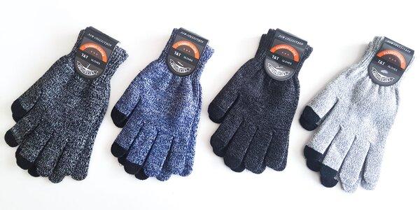 Praktické unisex rukavice na dotykový displej