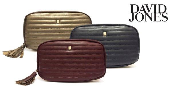 Priestranné dámske peňaženky David Jones s príveskom v 7 jesenných farbách