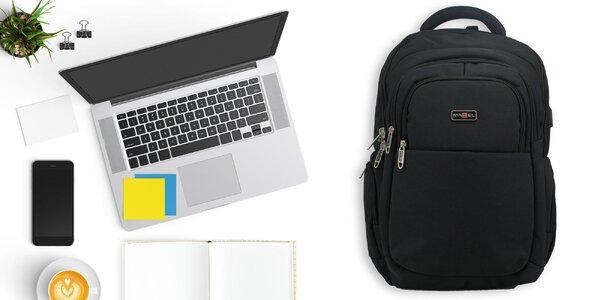 Batoh s USB portom a chrbtovou výstužou