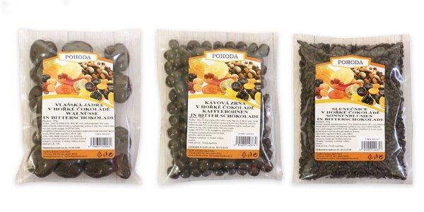 Ovocie a orechy v horkej čokoláde
