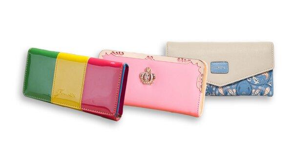 Dámske farebné peňaženky