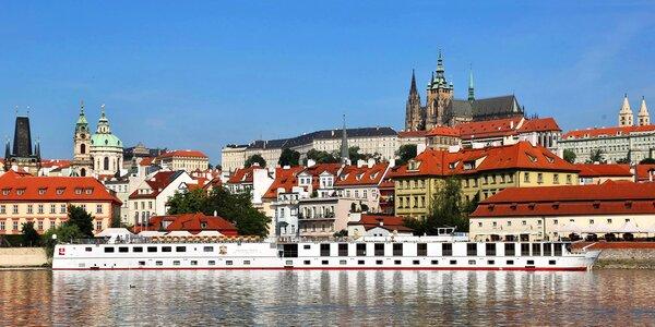 Romantický pobyt s polpenziou na palube lode v centre Prahy