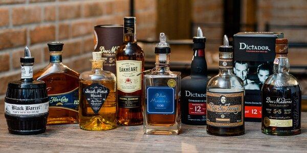 Ochutnávka 5 druhov kvalitných rumov vo Freaks Burgers