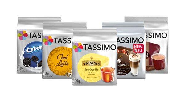 Kapsule Tassimo: balíček 5 príchutí aj XL Café