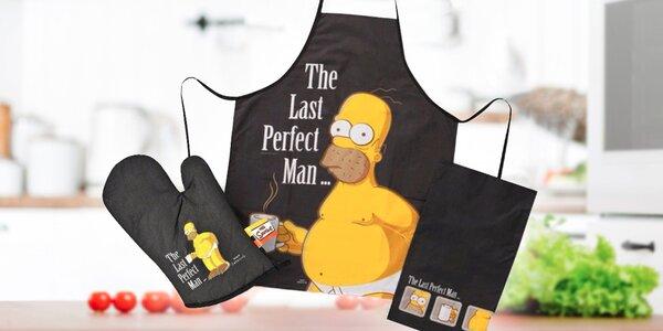 Zástera, chňapka a utierka Homera Simpsona
