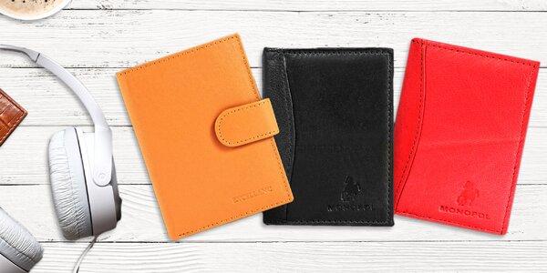 Peňaženky i dokladovky z pravej kože
