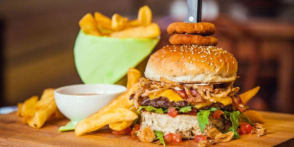Premium burger s pivnou ochutnávkou