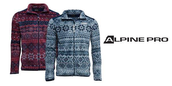Pánske vzorované mikiny Alpine Pro ELK 4