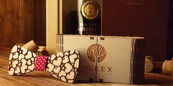 Handmade drevený motýlik v darčekovom balení!
