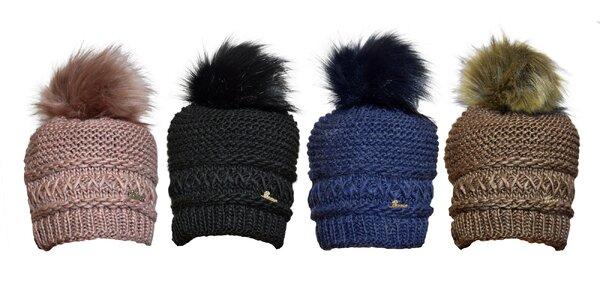 Štýlová zimná čiapka s brmbolcom v 4 farbách
