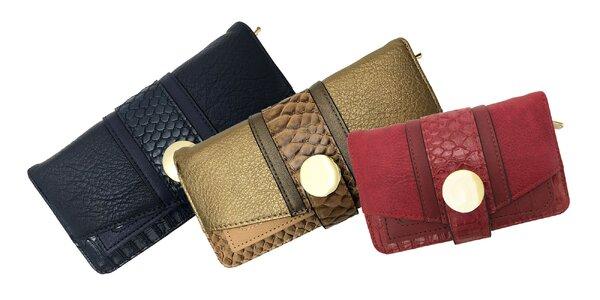 Dámske elegantné peňaženky v rôznych farbách